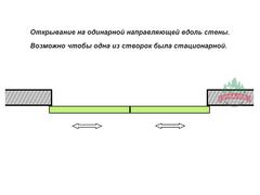 Раздвижные перегородки Раздвижная перегородка подвесная Риал-Про 53