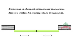 Раздвижные перегородки Раздвижная перегородка подвесная НАЙДИ 37