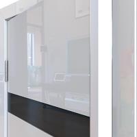 Двери шумоизоляционные глянцевые ДО-602 шумоизоляционная дверь глянцевая с алюминиевой кромкой