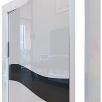 Двери Модерн глянцевые ДО-503 глянцевые двери с алюминиевой кромкой