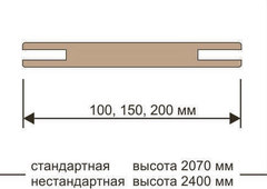 Добор телескоп 100*10 Eco-Light/UniLine
