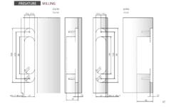 Скрытые петли дверные  Скрытая петля НН-16 Morelli