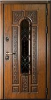 Regidoors Металлическая дверь Русь тёмный дуб+чёрная патина