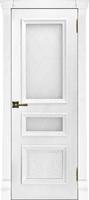 Багетные двери Барселона дуб перла стекло квадро