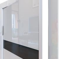 Дверная линия Модель 502 Белый глянец стекло чёрное