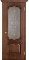 Двери Vist (Вист) Дверь Премьера патина голд стекло витраж