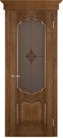 Двери Vist (Вист) Дверь Премьера каштан тон 11 стекло ромб