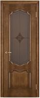 Двери Vist (Вист) Дверь Премьера каштан тон 11 стекло витраж