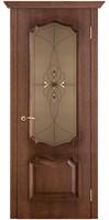 Двери Vist (Вист) Дверь Премьера патина голд стекло бронза с фацетами