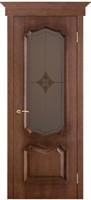 Двери Vist (Вист) Дверь Премьера патина голд стекло ромб