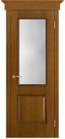 Двери Vist (Вист) Дверь Шервуд античный дуб тон 14 стекло