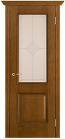 Двери Vist (Вист) Дверь Шервуд античный дуб тон 14 стекло ромб