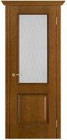 Двери Vist (Вист) Дверь Шервуд античный дуб тон 14 стекло роса