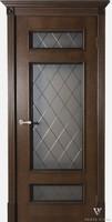 Двери Vist (Вист) Дверь Вист Рим дуб коньяк тон №19 стекло ромб гравировка