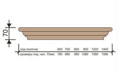 Карниз под полотна телескоп 600,700,800,900 мм Версаль