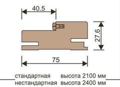 Стойка короба телескоп с уплотнителем Eco-Light/UniLine