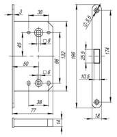 Сантехнические защелки Защелка сантехническая магнитная бесшумная M1895 Morelli