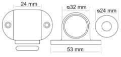 Дверные ограничители  Дверной ограничитель MDS-1 (напольный) Morelli