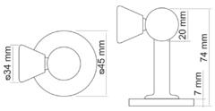 Дверные ограничители  Дверной ограничитель MDS-3 (универсальный) Morelli