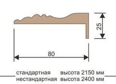 Планка наличника телескоп 2200*75*10 Версаль