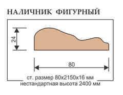Наличник Фигурный гармония стандарт 2100х80х24 мм Elegante classico/Grand