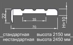 Планка наличника канелюр телескоп НК/К 10*70*2150 массив ольхи Ока