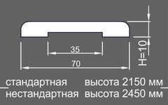 Планка наличника стандарт НК 10*70*2150. сосна/ольха шпон ОЛЬХА Ока