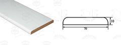 Планка наличника плоская стандарт 10х70х2200 мм ЧФД