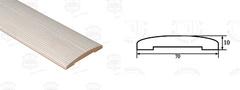 Планка наличника полукруглая стандарт 10х70х2200 мм ЧФД