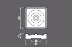 Розетка стандарт массив ольхи 70х70х20 мм Ока