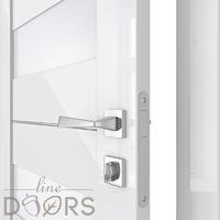 Двери Модерн глянцевые Глянцевые двери с заводской врезкой замка Трис ДО-Ц белое стекло