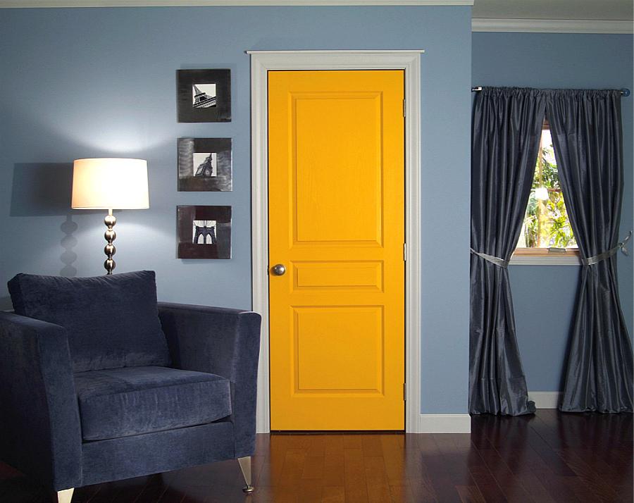 Интерьер дверей крашеных